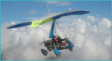 flying a microlight over the Algarve
