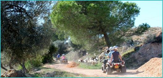 quad biking in the Algarve
