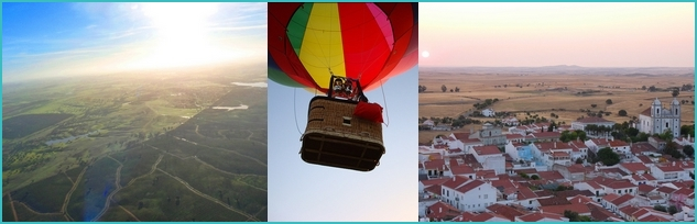 hot air balloon in Portugal