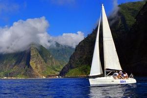 Sailing in Madeira: smaller sailing yacht