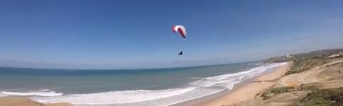 Paragliding near Lisbon