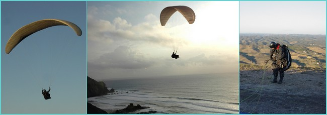 paragliding in the Algarve