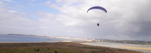 paramotor in the Algarve