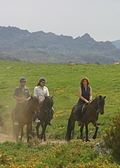 on a trail ride in Peneda Geres