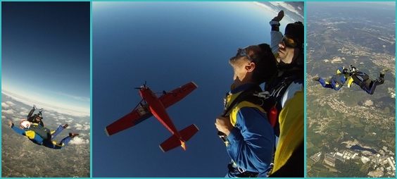 skydiving in Porto