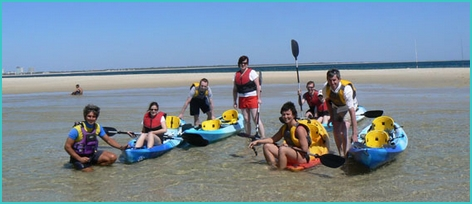Sea kayaking near Lisbon